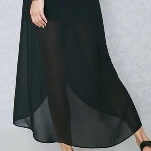 2x FOREVER 21 Wrap Skirt Chiffon Tulip Front Tie